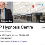 Oficina en London, Ontario de NLP Hypnosis Centre.
